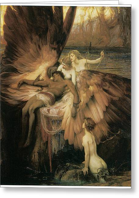 Greek Myths Greeting Cards - The Lament for Icarus  Greeting Card by Herbert Draper