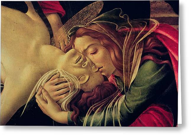 Lamentation Greeting Cards - The Lamentation of Christ Greeting Card by Sandro Botticelli