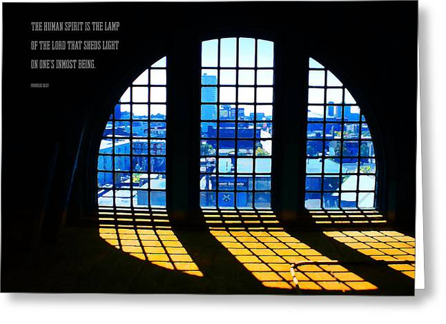 Shed Digital Greeting Cards - The Lamp of the Lord Greeting Card by Geoff Strehlow