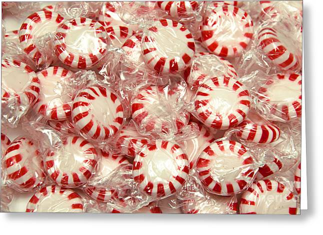 Peppermint Greeting Cards - The Land Of Peppermint Candy Greeting Card by Andee Design
