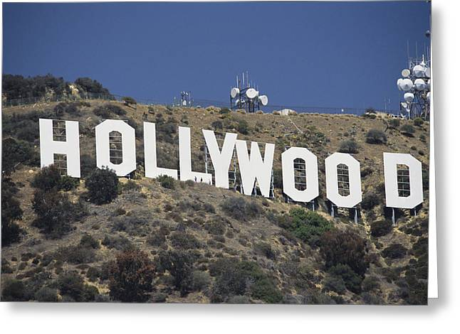 Signed Photographs Greeting Cards - The Landmark Hollywood Sign Greeting Card by Richard Nowitz