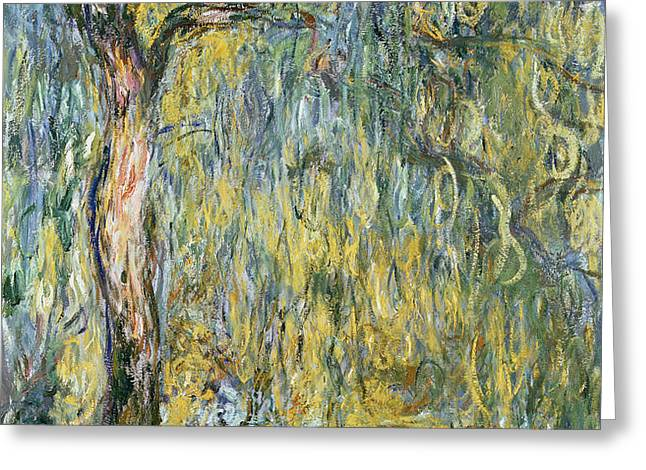 The Large Willow at Giverny Greeting Card by Claude Monet