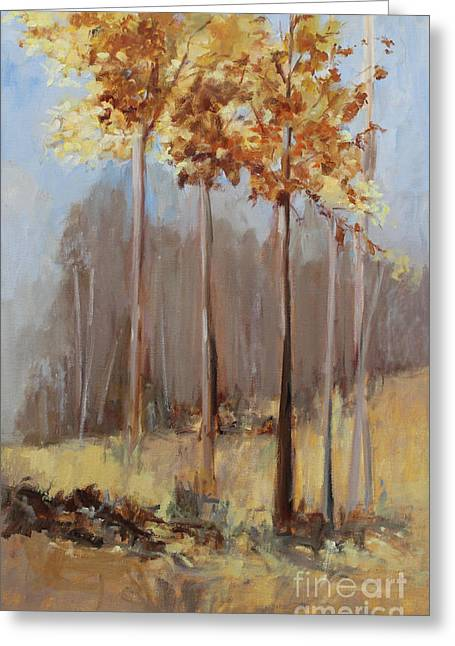 Turning Of The Leaves Paintings Greeting Cards - The Last Bouquet of Autumn Greeting Card by Sandy Lane