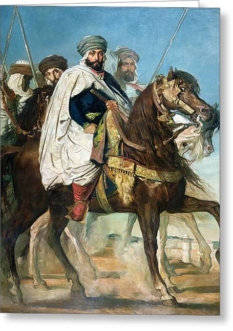 Entourage Greeting Cards - The Last Caliph of Constantine Greeting Card by Theodore Chasseriau