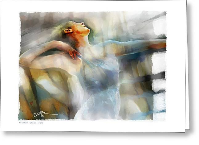 Interpretive Greeting Cards - The Last Dance Greeting Card by Bob Salo