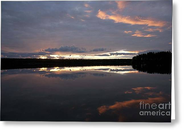 The Last Glow Greeting Card by Heiko Koehrer-Wagner