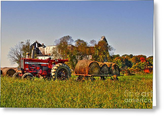 Tone Mapped Greeting Cards - The last harvest Greeting Card by Robert Pearson