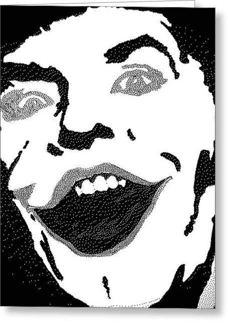 Drawing Of Frank Ocean Greeting Cards - The Last Joke Greeting Card by Robert Margetts