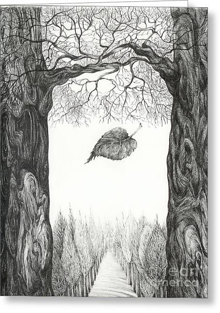 Anna Duyunova Art Greeting Cards - The last leaf. better image Greeting Card by Anna  Duyunova