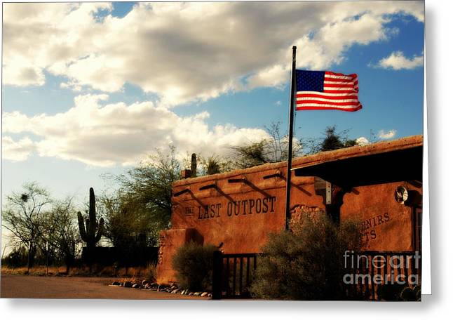 The South Photographs Greeting Cards - The Last Outpost Old Tuscon Arizona Greeting Card by Susanne Van Hulst