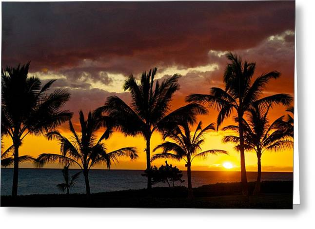Hawai Greeting Cards - The Last Sunset Greeting Card by James Walsh