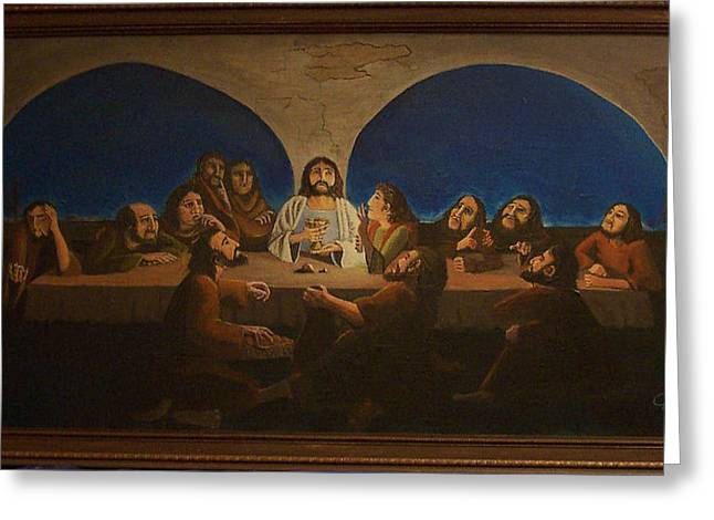 Covenant Thursday Greeting Cards - The Last Supper Greeting Card by Charlie Harris