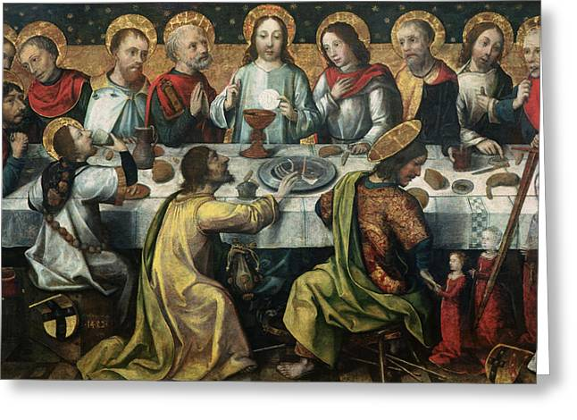 The Followers Greeting Cards - The Last Supper Greeting Card by Godefroy