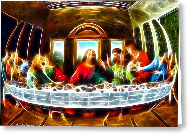 Dinner Digital Art Greeting Cards - The Last Supper Greeting Card by Stephen Younts