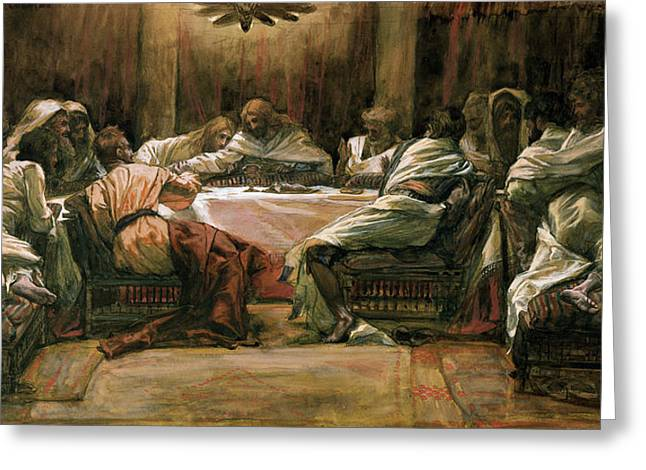 Dipping Greeting Cards - The Last Supper Greeting Card by Tissot