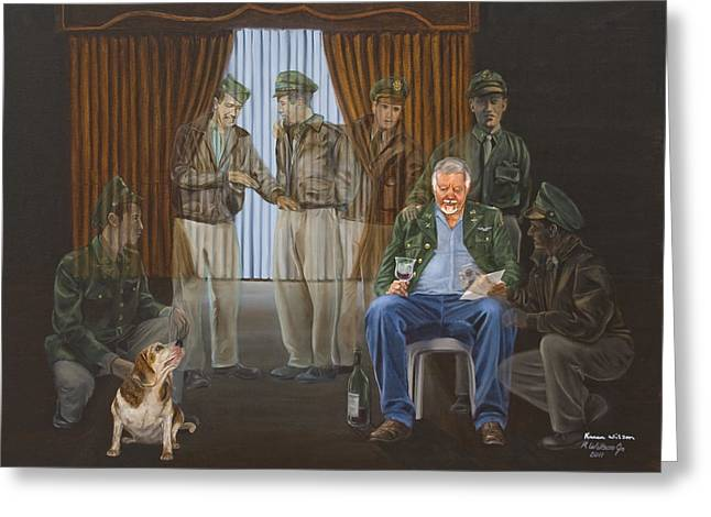 Toast Paintings Greeting Cards - The Last Survivor Greeting Card by Bob Wilson
