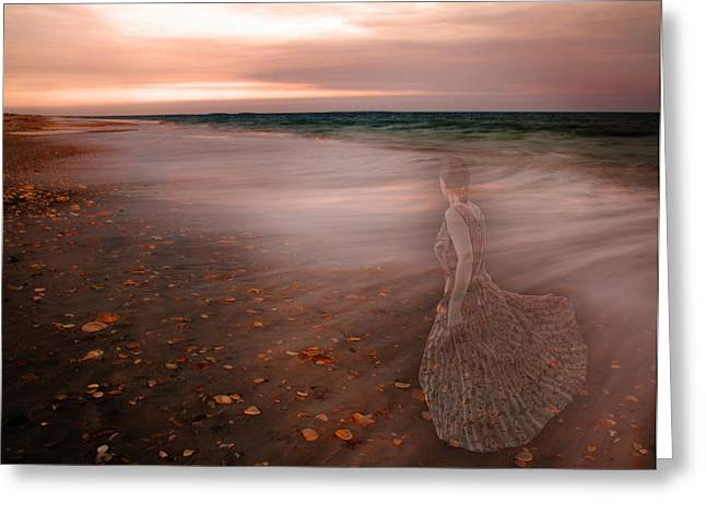 Evening Dress Digital Art Greeting Cards - The Last Time I Saw Her Greeting Card by Betsy A  Cutler