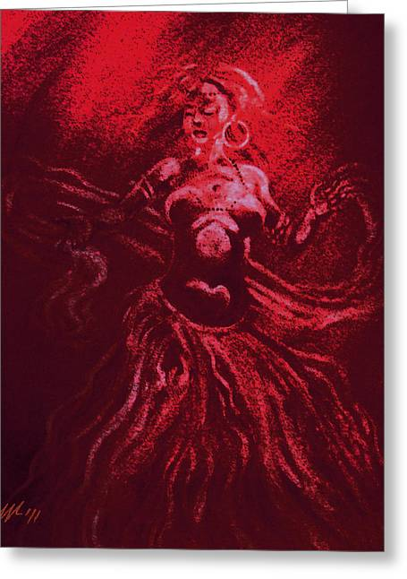 Veiled Mixed Media Greeting Cards - The last veil of Isis Greeting Card by Christo Wolmarans