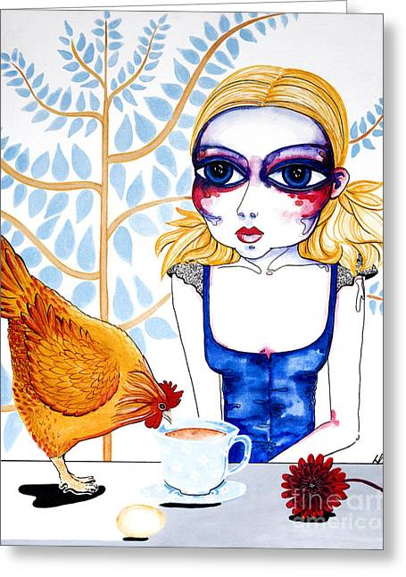 Golden Egg Greeting Cards - The Least I Could Do Greeting Card by Leanne Wilkes