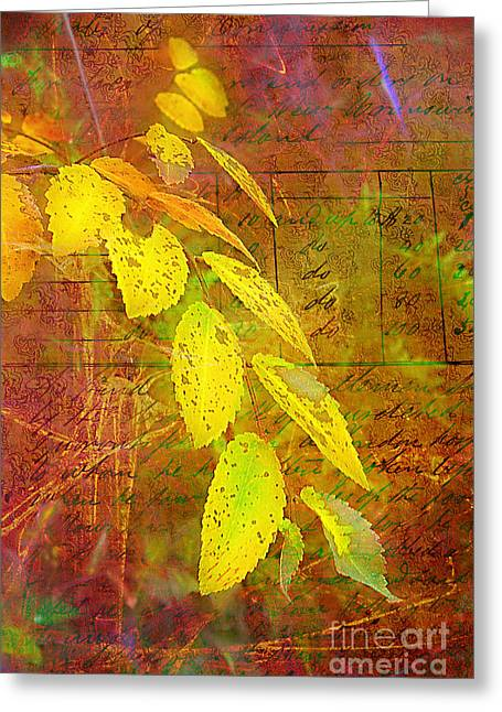 The Leaves Of Yesteryear Greeting Card by Judi Bagwell