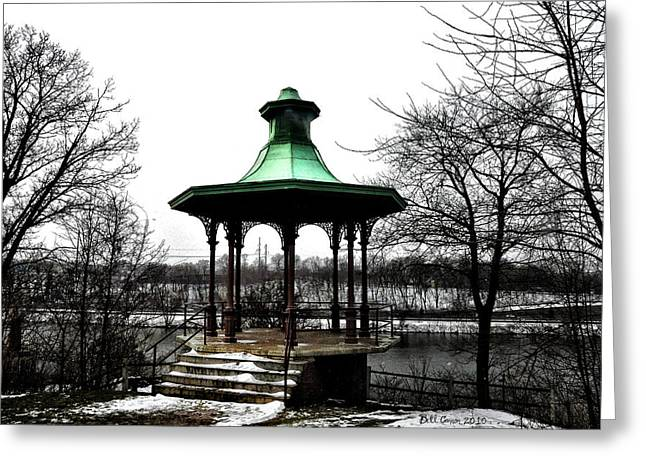 River View Digital Art Greeting Cards - The Lemon Hill Gazebo - Philadelphia Greeting Card by Bill Cannon