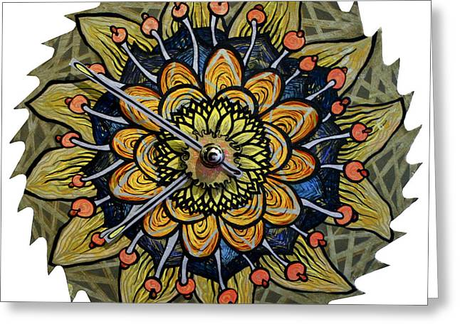 Saw Mixed Media Greeting Cards - The Lena-meria Greeting Card by Jessica Sornson