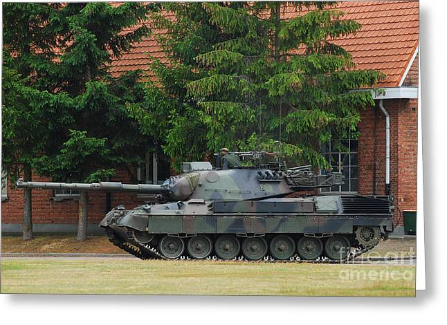The Leopard 1a5 Main Battle Tank In Use Greeting Card by Luc De Jaeger