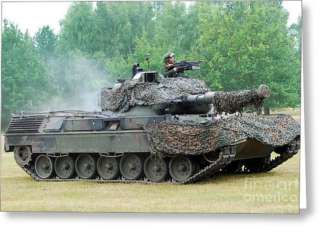 The Leopard 1a5 Main Battle Tank Greeting Card by Luc De Jaeger