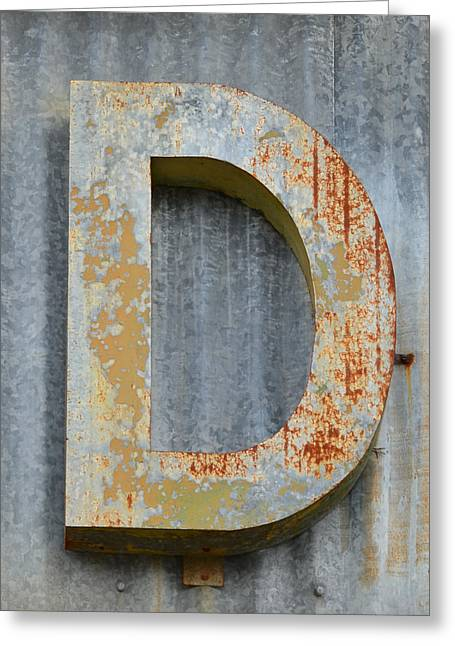 Square Format Greeting Cards - The Letter D Greeting Card by Nikki Marie Smith