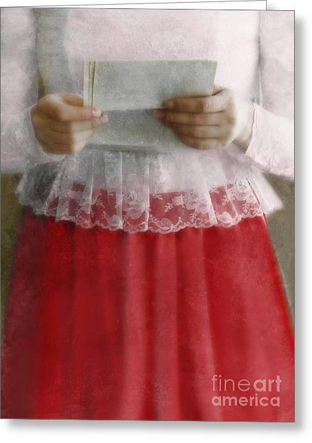 Love Letter Greeting Cards - The Letter Greeting Card by Jill Battaglia