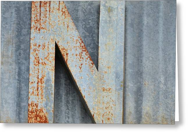 Hi-res Greeting Cards - The Letter N Greeting Card by Nikki Marie Smith