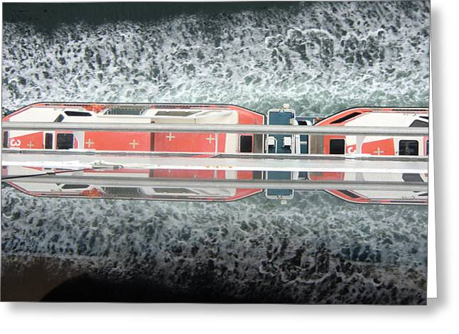 Boat Cruise Digital Greeting Cards - The Life Boats Greeting Card by Mindy Newman