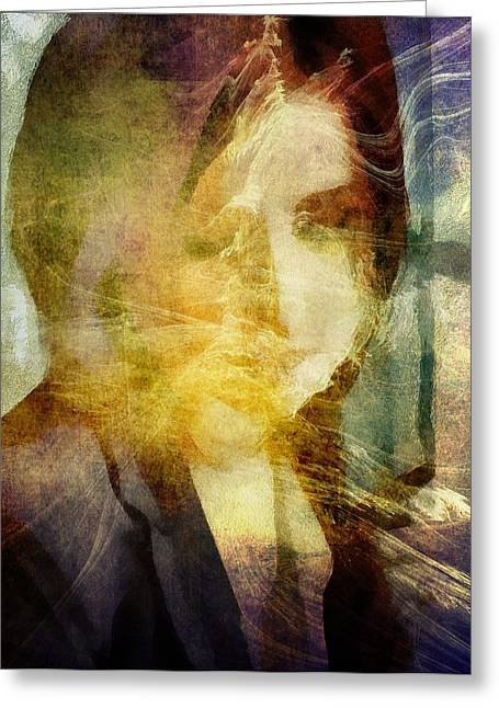 Woman Head Greeting Cards - The light always find me Greeting Card by Gun Legler