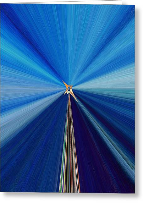 Roadway Digital Art Greeting Cards - The Light Fantastic Speedway Greeting Card by Tim Allen