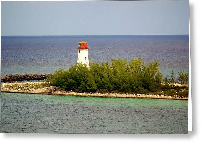 Seashell Picture Digital Greeting Cards - The Light House Greeting Card by Paulette Thomas