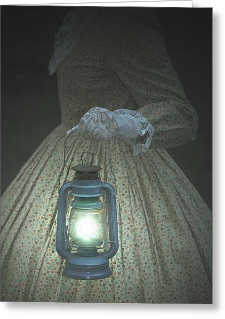 Lace Glove Greeting Cards - The Light Greeting Card by Joana Kruse