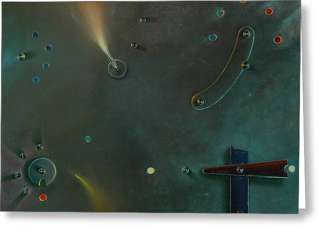 Rivets Paintings Greeting Cards - The Light Making Machine Greeting Card by Otto Farkas
