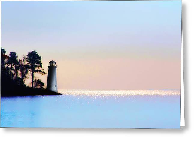 Maine Lighthouses Digital Greeting Cards - The Lighthouse Greeting Card by Bill Cannon