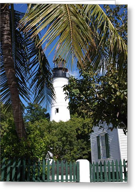Susanne Van Hulst Greeting Cards - The Lighthouse in Key West II Greeting Card by Susanne Van Hulst
