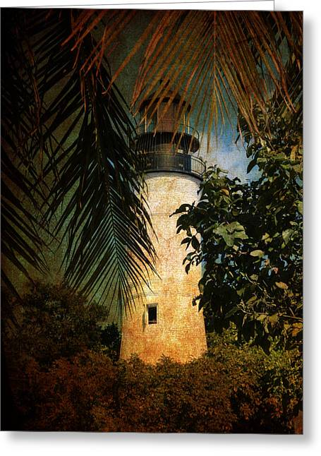 Florida House Greeting Cards - The Lighthouse in Key West Greeting Card by Susanne Van Hulst