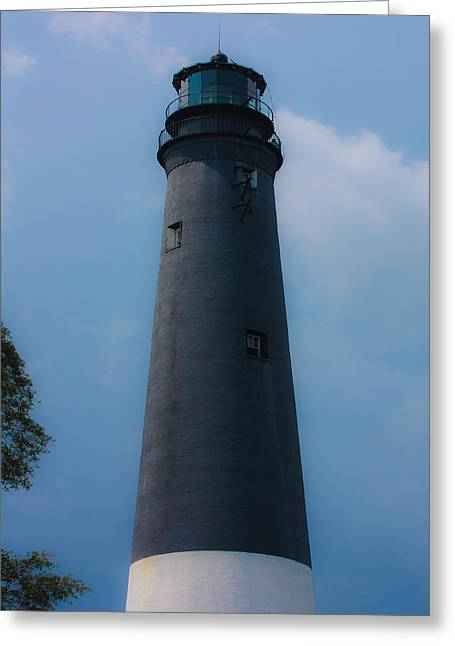 Lighthouse By The Ocean Greeting Cards - The lighthouse Greeting Card by Kris Napier