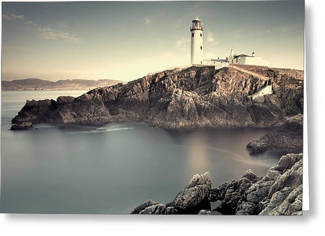 Magical Place Greeting Cards - The Lighthouse Greeting Card by Pawel Klarecki