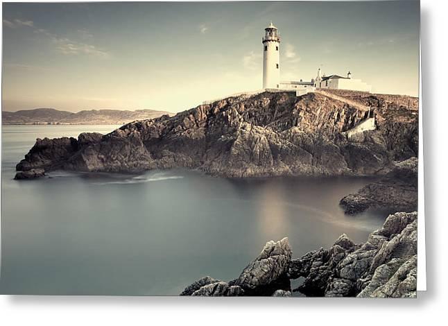 The Lighthouse Greeting Card by Pawel Klarecki