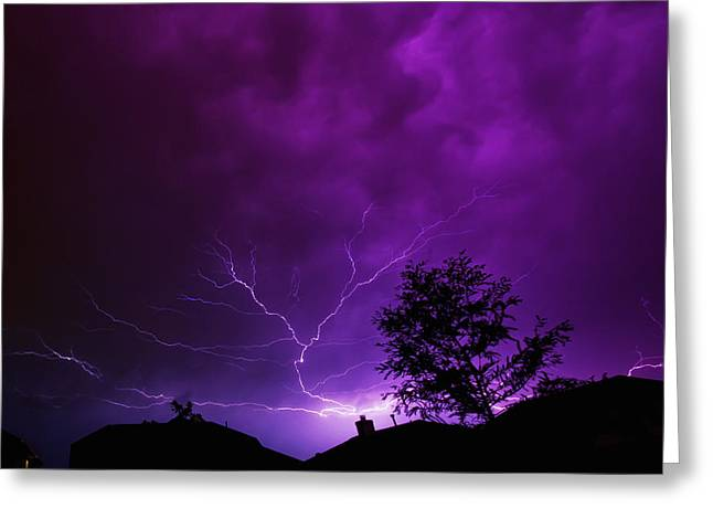 The Lightning Spread Greeting Card by Lisa  Spencer