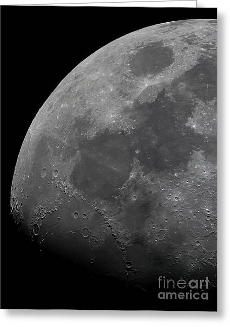 Mare Serenitatis Greeting Cards - The Limb And Terminator Of The Waxing Greeting Card by Luis Argerich
