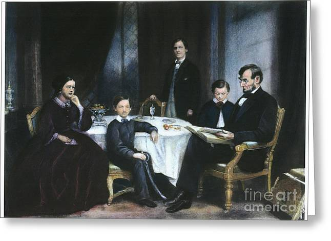 First-lady Greeting Cards - The Lincoln Family Greeting Card by Granger