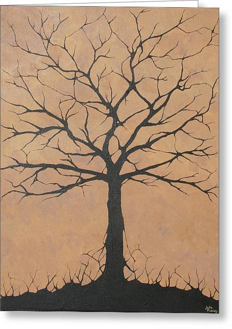 Best Sellers -  - Twiggy Greeting Cards - the Lindsey Tree Greeting Card by Julia Raddatz