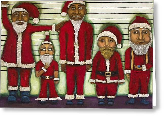Unique Christmas Cards Greeting Cards - The Line Up Greeting Card by Leah Saulnier The Painting Maniac
