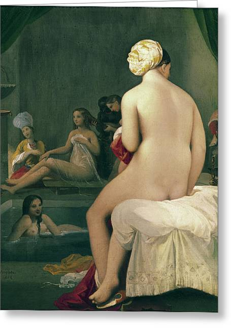 Concubine Paintings Greeting Cards - The Little Bather in the Harem Greeting Card by Jean Auguste Dominique Ingres