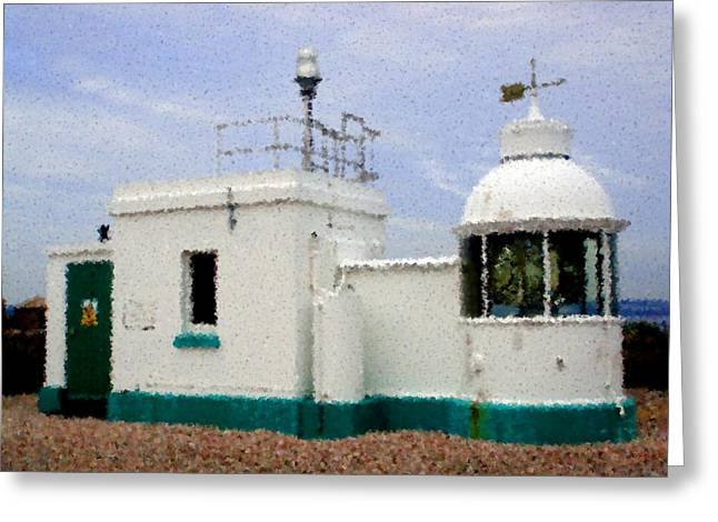 Roberto Alamino Greeting Cards - The Little Lighthouse Greeting Card by Roberto Alamino